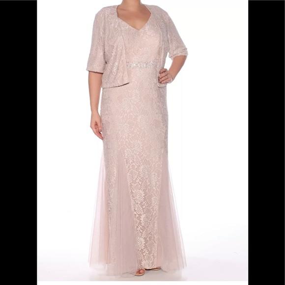 Formal Jacket Dress Plus Size 14W 2pc Evening Gown